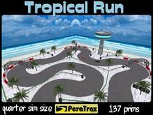 "1/4 SIM Skybox Raceway ""Tropical Run"" - QUARTER SIM Race Track - low prim racetrack - tropical race track - easy setup"