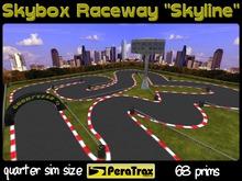 "1/4 SIM Skybox Raceway ""Skyline"" - QUARTER SIM Race Track - low prim racetrack - urban race track - easy setup - racing"
