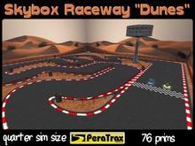 "1/4 SIM Skybox Raceway ""Dunes"" - QUARTER SIM Race Track - low prim racetrack - skybox race track - easy setup - racing"