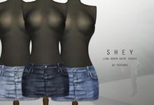 SHEY - Lena Denim Skirt ( 10 Textures )