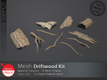 [DD] - FULL PERM  Driftwood Kit