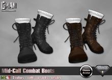 GMan BT - Mid-Calf Combat Boots