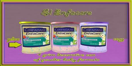 Sl Enfamil  decorative Powder baby formula ( yellow )