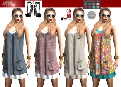 M&M-FABIOLA DRESS MESH