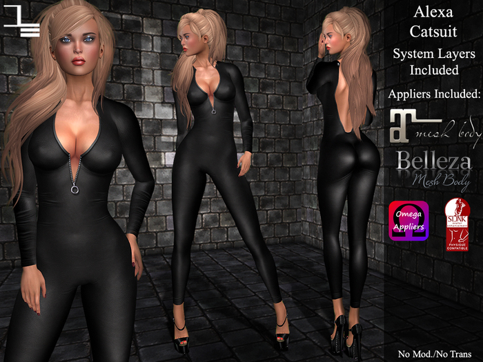 DE Designs - Alexa Catsuit - Black
