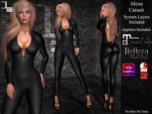 DE Designs - Alexa Catsuit - Black