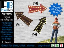 PB - Arrow signs with flashing bulbs. Make a point!
