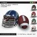 Cartel football helmet set c