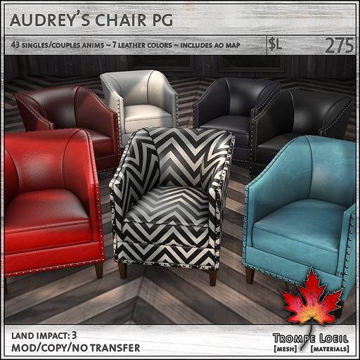 Trompe Loeil - Audrey's Chair PG + AO Map [mesh]