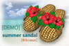 Demo sandal hibiscus pop