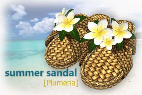 summer sandal [pulmeria]