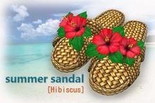 summer sandal [Hibiscus]