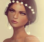 Pink Acid Angels & Pearls Tiara & Earrings - Gold