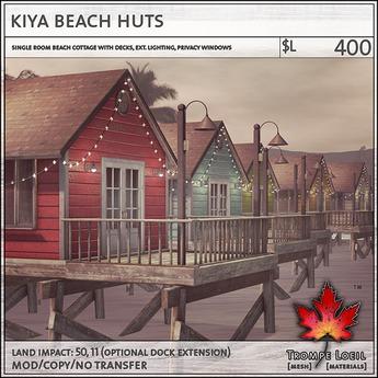 Trompe Loeil - Kiya Beach Huts V1.1[mesh]
