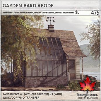 Trompe Loeil - Garden Bard Abode [mesh]