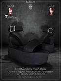 Bleich - Mesh Unisex Flatform - Black