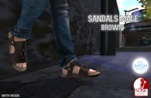 .Chicago Ink. - Sandals Male {TMP} {Slink} / Brown