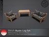 [DD] - FULL PERM  Rustic Log Set