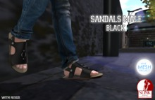 .Chicago Ink. - Sandals Male {TMP} {Slink} / Black