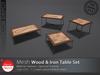 [DD] - FULL PERM  Wood & Iron Table Set