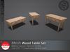 [DD] - FULL PERM  Wood Table Set