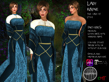.:: VH ::. Lady Raine Mesh Medieval Dress with Appliers - Blue