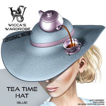 Wicca's Wardrobe - Teatime Hat [Blue] [BOXED]
