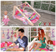 """Aphrodite """"princess carriage"""" interactive baby gym for baby and mom or dad or both parents & babies! For nursery"""
