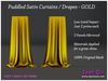 Spot On Puddled Satin Curtains Drapes GOLD