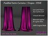 Spot On Puddled Satin Curtains Drapes RED