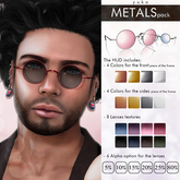 YUKO // Lennon's Sunglasses / Metals Pack (MESH) - Unisex