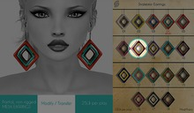 GACHA SPARES: Shakeup - Snakeskin Earrings - 7