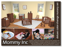 *Mommy Inc* Deluxe Color-Change 14-Piece Nursery Set