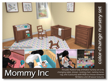 *Mommy Inc* Color-Change 9-Piece Nursery Set