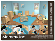 *Mommy Inc* Deluxe 14-Piece Nursery Set - Blue Pine