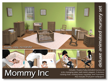 *Mommy Inc* Deluxe 14-Piece Nursery Set - Green Oak