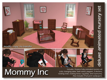 *Mommy Inc* Deluxe 14-Piece Nursery Set - Pink Cherry