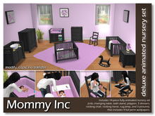 *Mommy Inc* Deluxe 14-Piece Nursery Set - Purple Ebony