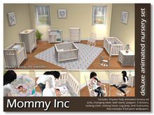 *Mommy Inc* Deluxe 14-Piece Nursery Set - White Quilt