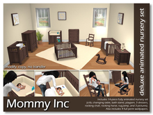 *Mommy Inc* Deluxe 14-Piece Nursery Set - Yellow Walnut
