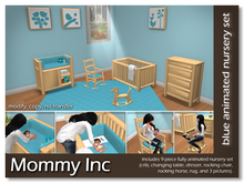 *Mommy Inc* 9-Piece Nursery Set - Blue Pine
