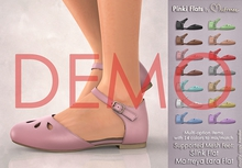 [DEMO] Mutresse . Pinki Flats - 14 Colors for Slink/Maitreya/Belleza