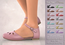 Mutresse . Pinki Flats - 14 Colors for Slink/Maitreya/Belleza