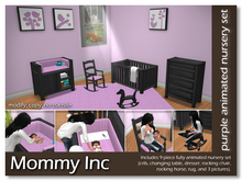 *Mommy Inc* 9-Piece Nursery Set - Purple Ebony