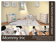 *Mommy Inc* 9-Piece Nursery Set - White Quilt