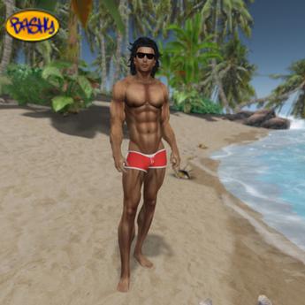 ::BASHY:: AES Reef Swim Shorts Poppy  Gray (WEAR TO UNPACK)