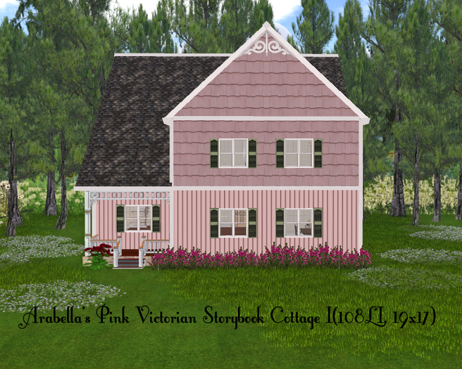 Arabella's Pink Victorian Storybook Cottage II(108LI, 19x17)