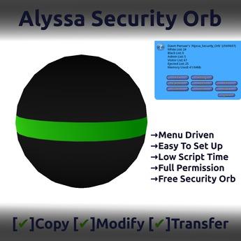 Alyssa Security Orb v3.5 Full Perm