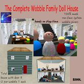 Complete Doll House set The Wobbles(trunk) INTERACTIVE