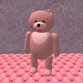 Teddy Bear stand in pink (3 prims only)